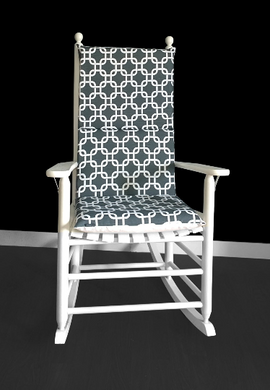 Interlocking Squares Rocking Chair Cover