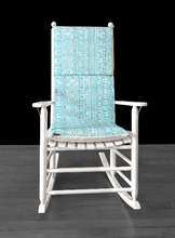 Load image into Gallery viewer, Turquoise Rocking Chair Cushion Covers Set