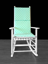 Load image into Gallery viewer, Mint Green Polka Dot Rocking Chair Cushion Cover
