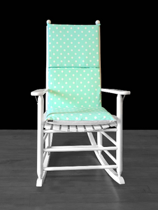 Mint Green Polka Dot Rocking Chair Cushion Cover