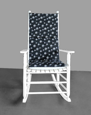 Black Dandelions Adjustable Rocking Chair Cover