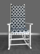 Load image into Gallery viewer, Black White Squares Rocking Chair Cushion Covers