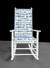 Load image into Gallery viewer, Shibori Indigo Blue Rocking Chair Cushion
