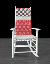 Load image into Gallery viewer, Rocking Chair Cushion Cover, Grey Polka Dot Patchwork Seat Covers, Ready to Ship
