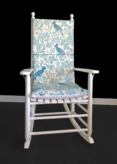 Custom Cockatoo Rocking Chair Pads, Rocking Chair Inserts And Covers