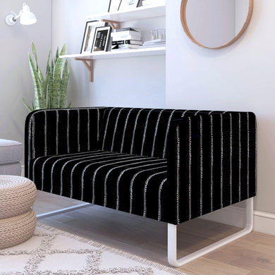 Black Pinstripe Dot Print IKEA KNOPPARP Sofa Cover
