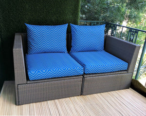 SALE IKEA Outdoor Slipcovers, Cobalt Blue Chevron