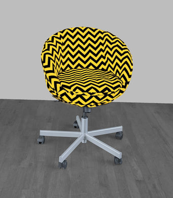 Yellow Black Chevron IKEA SKRUVSTA Chair Slip Cover