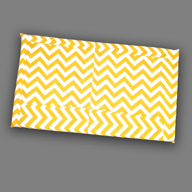 Patchwork Yellow Chevron Pattern, IKEA STUVA Bench Pad Slip Cover, Zig Zag