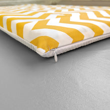Load image into Gallery viewer, Patchwork Yellow Chevron Pattern, IKEA STUVA Bench Pad Slip Cover, Zig Zag