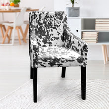 Load image into Gallery viewer, IKEA SAKARIAS Dining Chair Cover, Faux Black Cow Hide