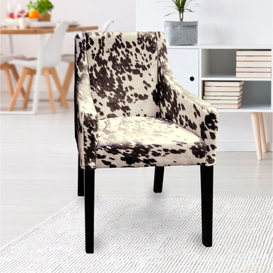 IKEA SAKARIAS Dining Chair Cover, Faux Dark Brown Cow Hide