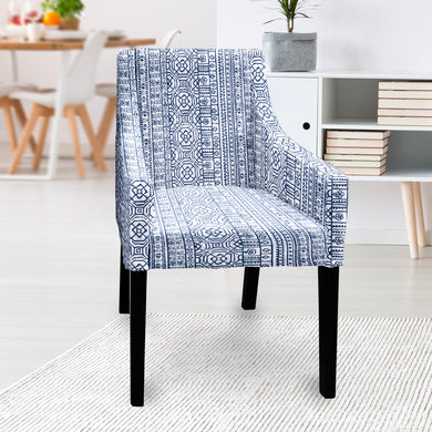 IKEA SAKARIAS Dining Chair Cover, Navy Blue Tribal Print
