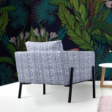 Load image into Gallery viewer, IKEA KOARP Armchair Cover, Navy Blue Tribal Print
