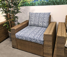 Load image into Gallery viewer, Navy Blue Devada Bohemian Print, IKEA Outdoor Slipcovers