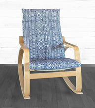 Load image into Gallery viewer, Navy Blue Devada Print IKEA POÄNG Cushion Slipcover