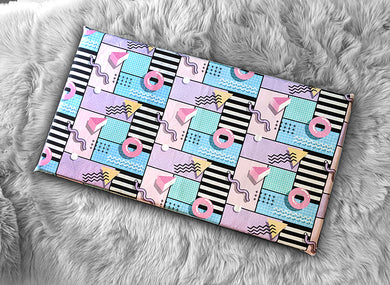 Colorful Diner, 80's Donuts IKEA HEMMAHOS Bench Pad Slip Cover