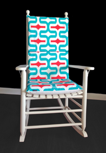 Bold Geometric Rocking Chair Cushion Pad