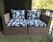 Load image into Gallery viewer, SALE IKEA Outdoor Furniture Covers, Blue Jungle Arholma