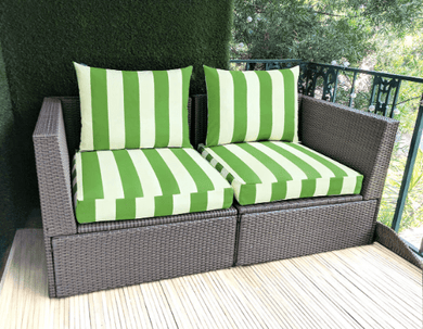 SALE IKEA OUTDOOR Slip Covers, Cabana Cushion Covers, Ikea Decor, Bespoke Arholma Covers, Green Beige Canopy Stripe