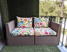 Load image into Gallery viewer, SALE IKEA Outdoor SEAT Slip Cover, Spring Flowers Bespoke Arholma Covers, Pink Floral