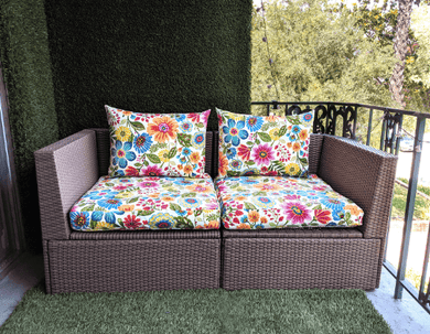 SALE IKEA Outdoor SEAT Slip Cover, Spring Flowers Bespoke Arholma Covers, Pink Floral