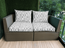 Load image into Gallery viewer, SALE IKEA Hallo Seat Covers Gray Sticks Pattern, Ikea Cushion Covers, Custom Ikea Décor