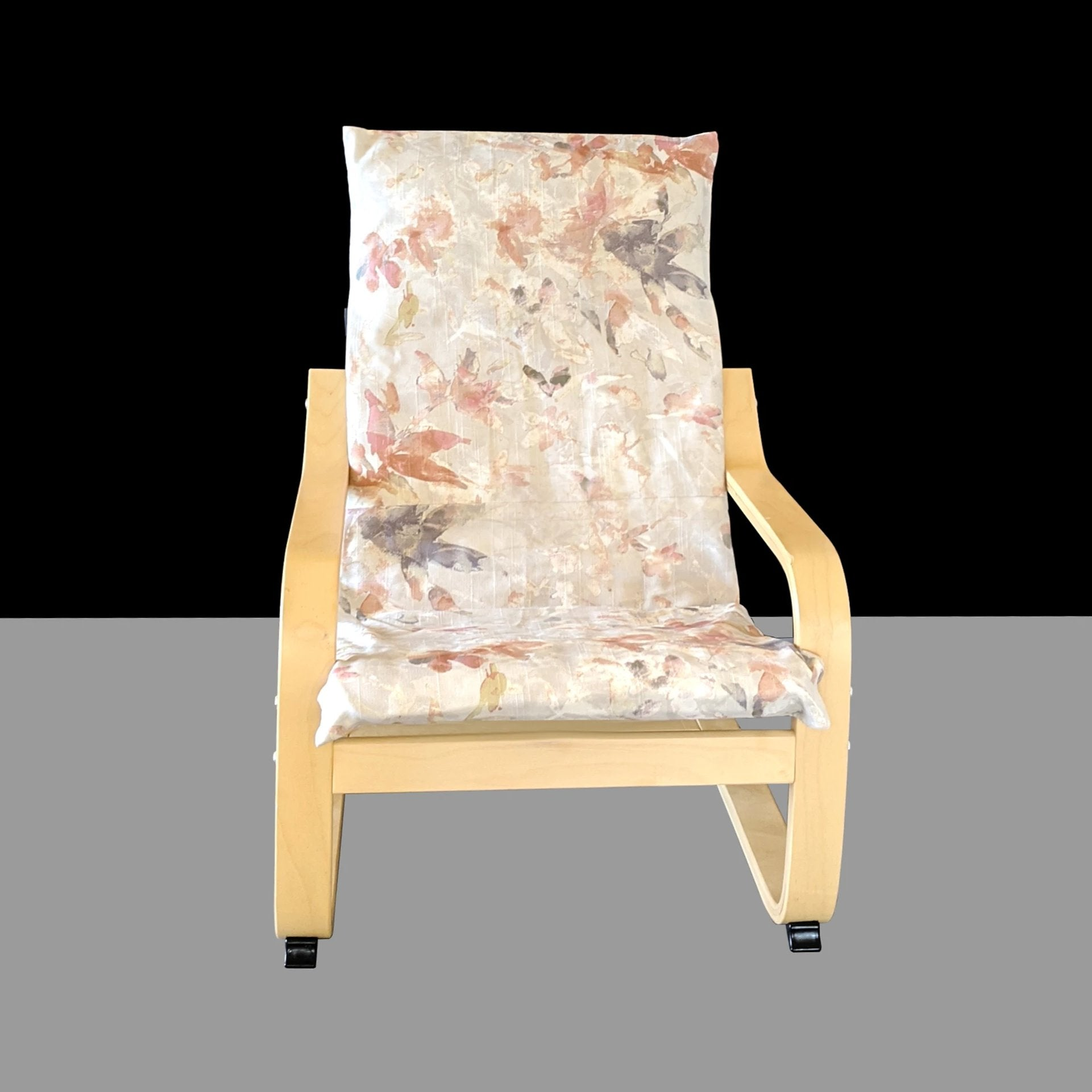 Autumn Leaves Floral Ikea Poang Chair Cover Ikea Kids Poang Seat Cover Affordable Designer Custom Handmade Trendy Fashionable Locally Made High Quality