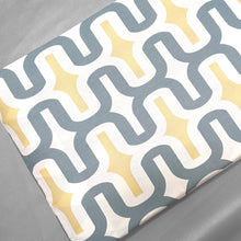 Load image into Gallery viewer, Retro Pattern, Gray, Yellow White IKEA HEMMAHOS Bench Pad Slip Cover
