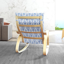 Load image into Gallery viewer, IKEA POÄNG, Boho Indigo Blue Diamond Print