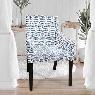 Sakarias chair cover, Boho Indigo Blue