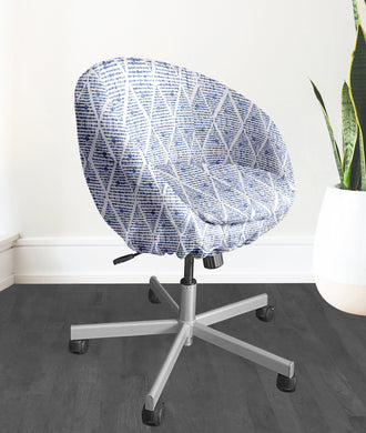 Boho Indigo Blue IKEA SKRUVSTA Chair Slip Cover