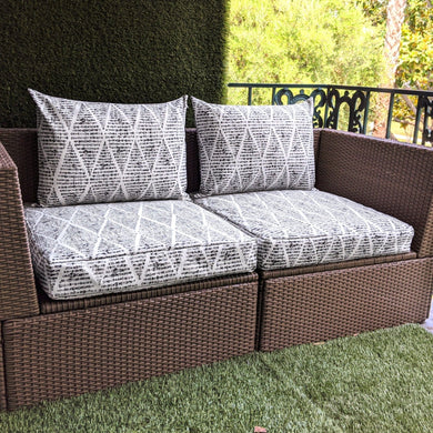 Boho Gray IKEA Outdoor Slipcover