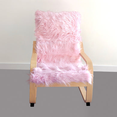 Light Pink Fur Kids Ikea Poang Chair Cover