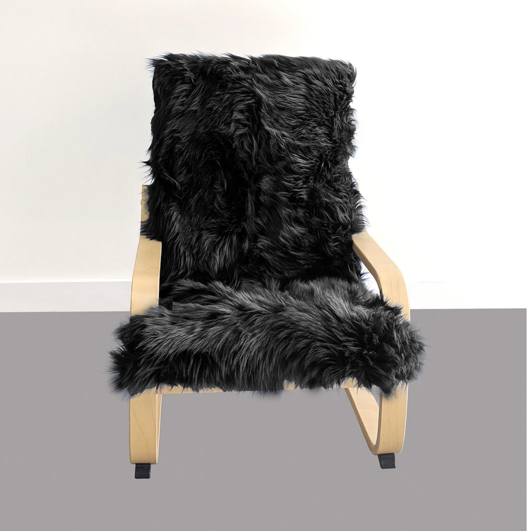 Cosy Black Fur Kids Ikea Poang Chair Cover