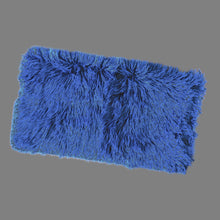 Load image into Gallery viewer, Royal Blue Fur IKEA HEMMAHOS Bench Pad Slip Cover