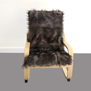 Wolverine Brown Fur Kids Ikea Poang Chair Cover