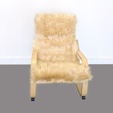 Cosy Gold Fur Kids Ikea Poang Chair Cover