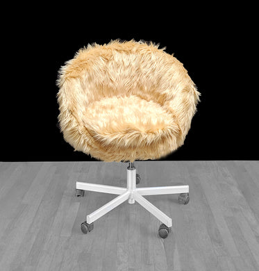 IKEA Gold Beige Fur SKRUVSTA Chair Slip Cover
