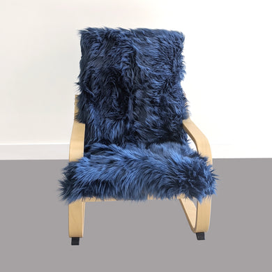 Navy Blue Fur Kids Ikea Poang Chair Cover