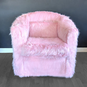 IKEA TULLSTA Chair Slip Cover, Pink Fur