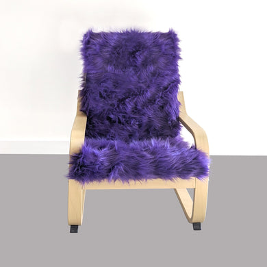 Purple Faux Fur Kids Ikea Poang Chair Cover