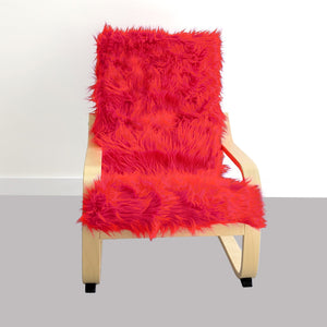 Red Fur Kids Ikea Poang Chair Cover