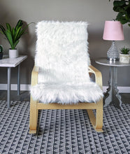 Load image into Gallery viewer, White Fur IKEA POÄNG