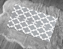 Load image into Gallery viewer, Gray Moroccan Print IKEA STUVA Bench Pad Slip Cover