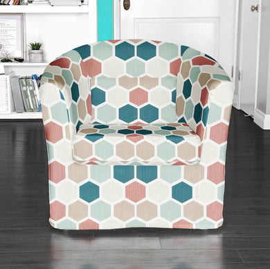 IKEA TULLSTA Chair Cover, Honeycomb Teal Blush Pink
