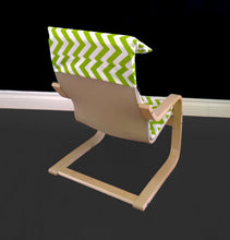 Load image into Gallery viewer, Green White Chevron IKEA KIDS POÄNG Cushion Slip Cover, Ready to Ship