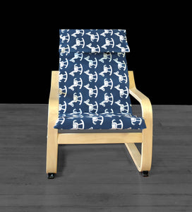Boys Rocking Horse Print POÄNG Cushion Slip Cover