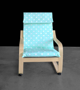 KIDS POÄNG Polka Dot Cushion Seat Cover, Mint Green