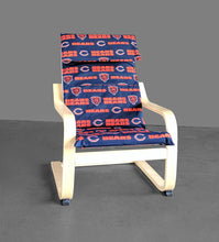 Load image into Gallery viewer, IKEA KIDS Poang Chair Cover, Chicago Bears, NFL Furniture Covers, Football Fan Fabric